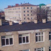 Производственный корпус и общежитие (на заднем плане) ишимского Сельхозтехникума., Ишим