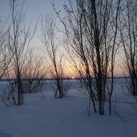 Закат на озере Янтарном, Надым
