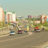 Вид на ул. Губкина и Северную магистраль., Новый Уренгой