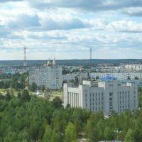 вид на Администрацию  и город, Ноябрьск
