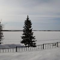 Вид на Обь возле ТЦ.29.03.11, Октябрьское