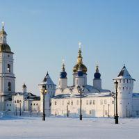 Утренний взгляд на зимний кремль, Тобольск