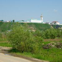 Вид на Кремль, расположенный на вершине Троицкого мыса / View of the Kremlin located at top of Troitsk cape (14/06/2008), Тобольск