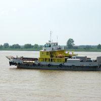 Самоходный паром СП-20, обслуживающий переправу Тобольск-Бекерево / The self-propelled ferry SP-20 which serves the ferry Tobolsk-Bekerevo (14/06/2008), Тобольск