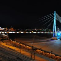 Панорама моста Влюблённых, Тюмень
