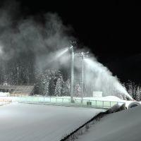 Работа фабрики снега, Ханты-Мансийск
