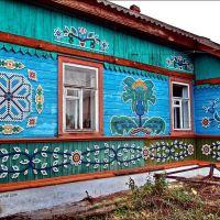 Дом с орнаментом из крышек, Балезино