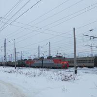 Электровоз постоянного тока ВЛ11М-183 на станции Балезино, Балезино