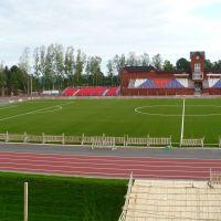 Новый стадион напротив школы. Июль 2009, Вавож