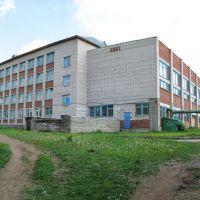 Школа №6. Вид с северо-запада (панорама)., Воткинск