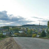 Вид на село с больничной горы. Дебесы, осень-2009, Дебесы