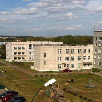 Завьяловская школа, вид на задний двор, Завьялово