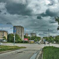 Перекресток улиц К. Маркса и Кирова в пасмурный день, Ижевск