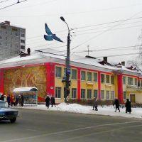 Пролет голубя над перекрестком улиц Коммунаров и Либкнехта, Ижевск