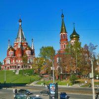 Красная горка, сквер Свято-Михайловского Собора. 2007 год, Ижевск
