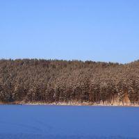 Можгинский пруд зимой, Можга