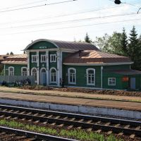 Вокзал станции Можга. Фото сделано 26.06.2011, время 19:32, Можга