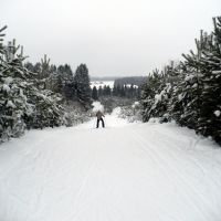 На лыжной трассе, Шаркан