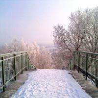 Морозное утро на ж-д мосту, Базарный Сызган