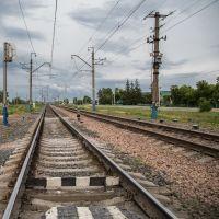 Железнодорожный переезд в Кузоватово, Ульяновская обл., Кузоватово