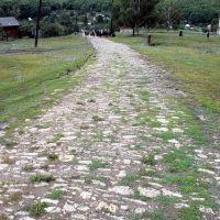 мощёная дорога в Гавриловой Поляне / Gavrilova Polyana, Новая Малыкла