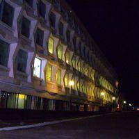 Ульяновский педагогический университет вечером, Ульяновск