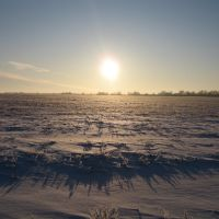 Зима степь закат ( Sunset in the sea of ​​snow ), Калмыково