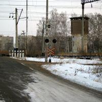Вид на ж/д переезд с ул.Шелеста п. Волочаевка-2, Волочаевка Вторая