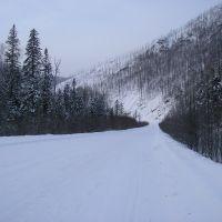 Трасса через перевал. Зима., Высокогорный