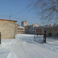 въезд во двор Администрации, Вяземский