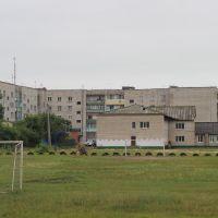 Стадион школы и дом Кагыкина 32, Ленинское