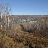 Obluchye (2012-10) - View downhill, Облучье