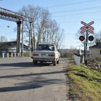 Obluchye (2012-10) - Railway crossing, Облучье
