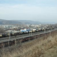 Obluchye (2012-11) - Obluchye and railway, Облучье
