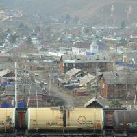 Obluchye (2012-11) - View to urban area across railway, Облучье