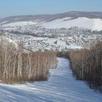 Obluchye (2013-02) - Downhill to town, Облучье