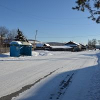 Obluchye (2013-02) - Street view in northern town area, Облучье