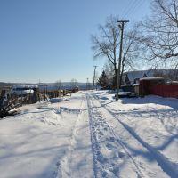 Obluchye (2013-02) - Street view in northern town area, Облучье