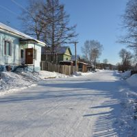 Obluchye (2013-02) - Street view in north eastern town area, Облучье