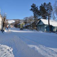 Obluchye (2013-02) - Street view in north eastern town area, Облучье