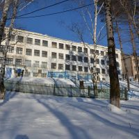 Obluchye (2013-02) - School no.3 in winter time, Облучье