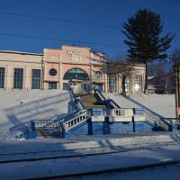 Obluchye (2013-02) - Train station in winter, Облучье