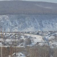 Obluchye (2013-02) - Town view from east, Облучье