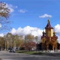 A church in Chegdomyn, Чегдомын