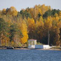Беседка на берегу озера Синара / The bower on a coast of the lake Sinara (04/10/2007), Снежинск