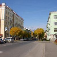 Вид на улицу Васильева в районе бульвара Циолковского / View of Vasiliev street in area close to Tsiolkovsky boulevard (05/10/2007), Снежинск