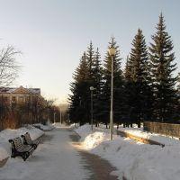 Трехгорный. Зимняя алея. Площадь им, Ленина., Трехгорный