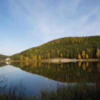 осень 2008, пруд, Трехгорный