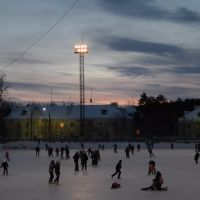 winter evening on the ice, Озерск