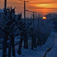 Cold sunrise, Озерск